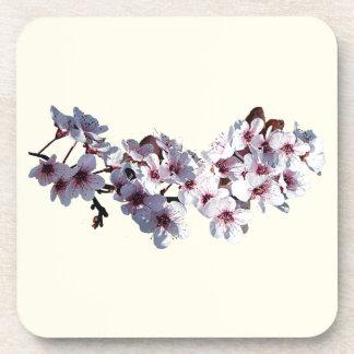 Puntilla de flores de cerezo posavasos de bebida