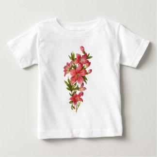 Puntilla de flores rosadas poleras