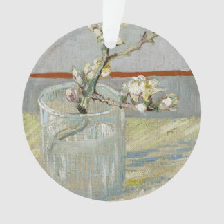 Puntilla de la almendra floreciente en un vidrio d