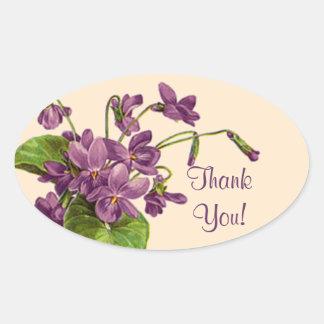 Puntilla de violetas - pegatina