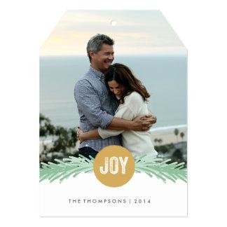 Puntillas de la tarjeta de la foto del día de comunicado personalizado