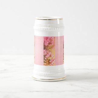 Puntillas del brezo rosado Stein Jarra De Cerveza