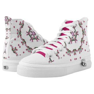 Puntillas valientes florales zapatillas