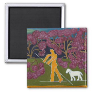 Punting in the River Avon 2011 2 Inch Square Magnet