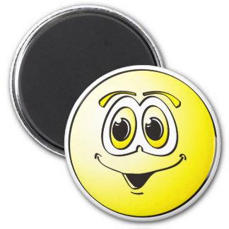 Punto amarillo imán redondo 5 cm