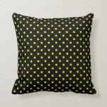 Punto amarillo negro caliente de la almohada