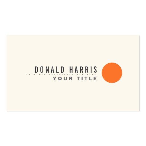 Punto anaranjado del círculo del minimalist modern tarjeta de negocio
