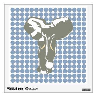 Punto azul del safari de la roca con el elefante d vinilo decorativo