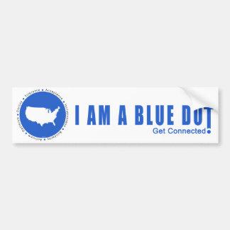 Punto azul los E.E.U.U. Pegatina Para Auto