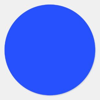 Punto azul pegatina redonda