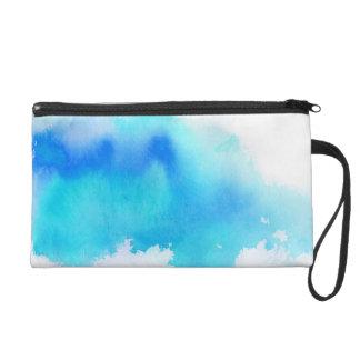 Punto azul, pintado a mano abstracto de la acuarel