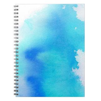 Punto azul, pintado a mano abstracto de la acuarel libretas