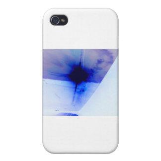 punto azul y negro de la tinta iPhone 4/4S funda