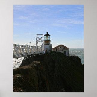 Punto Bonita Lighouse, bahía de San Fransisco Poster
