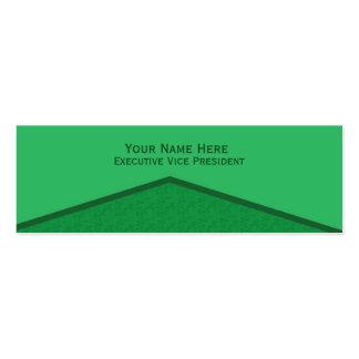 Punto central verde claro tarjetas de visita
