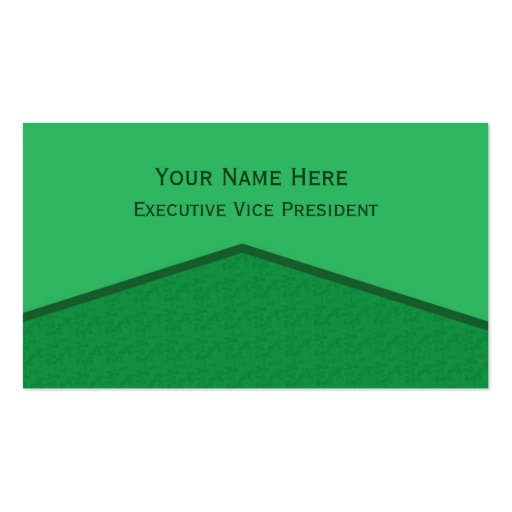 Punto central verde claro tarjeta de visita