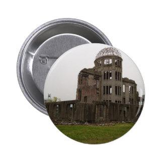 Punto cero Hiroshima Pin Redondo De 2 Pulgadas
