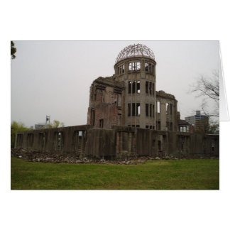 Punto cero Hiroshima Tarjeta De Felicitación