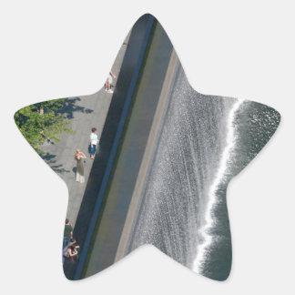 Punto cero - New York City Calcomanías Forma De Estrella
