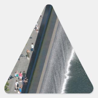 Punto cero - New York City Calcomanías Triangulos Personalizadas