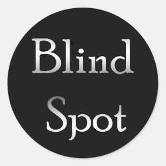 Punto ciego pegatina redonda