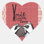 Punto con amor: De motivación creativo Pegatina Corazon Personalizadas