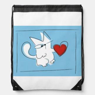 Punto cuore drawstring bag