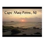 Punto de Cape May, NJ en la tarjeta de felicitació Postal