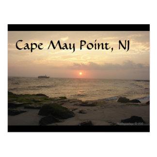 Punto de Cape May, NJ en la tarjeta de Tarjeta Postal