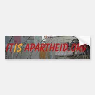 punto de control, es, Apartheid.org Pegatina Para Auto