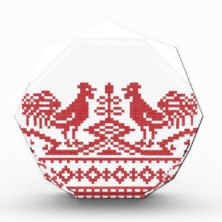 Punto de cruz rojo del gallo