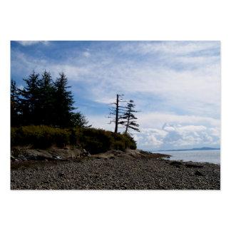 Punto de dos árboles plantilla de tarjeta personal