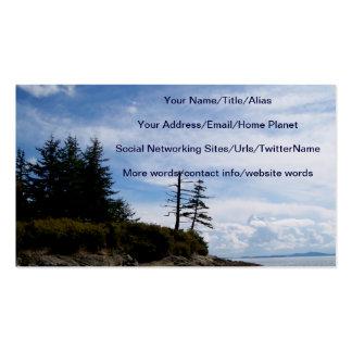 Punto de dos árboles tarjeta personal