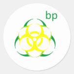 Punto de ebullición 2 del Biohazard Pegatina Redonda