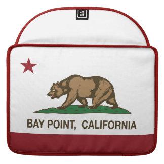 Punto de la bahía de la bandera del estado de Cali Fundas Para Macbooks