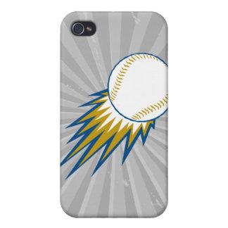 punto de la bola rápida del béisbol iPhone 4/4S carcasa