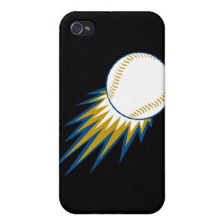 punto de la bola rápida del béisbol iPhone 4 carcasas