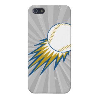 punto de la bola rápida del béisbol iPhone 5 carcasas