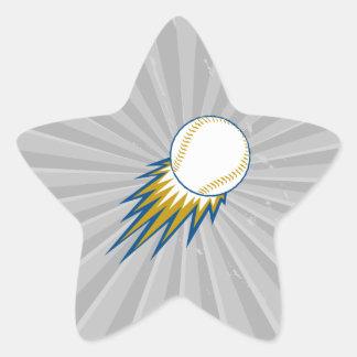 punto de la bola rápida del béisbol pegatina en forma de estrella