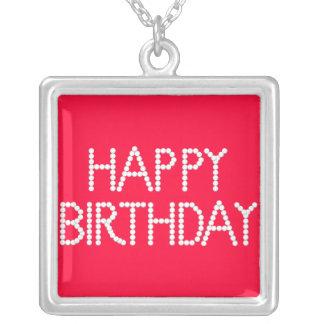 Punto de la fantasía del feliz cumpleaños del fies colgante cuadrado