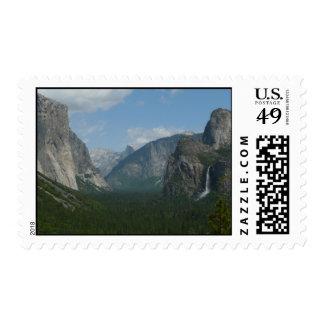 Punto de la inspiración en el parque nacional de sellos postales