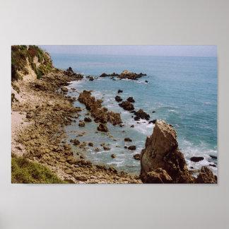 Punto de la inspiración, playa de Newport, Califor Poster