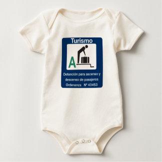 Punto de la parada de Turist, señal de tráfico, la Body Para Bebé