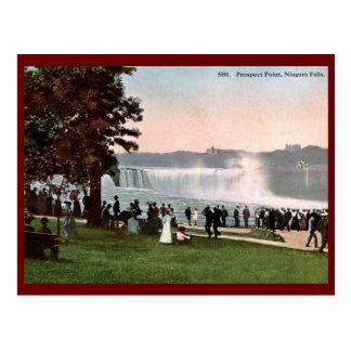 Punto de la perspectiva, vintage 1909 de Niagara Postales