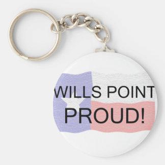 Punto de las voluntades orgulloso llavero personalizado