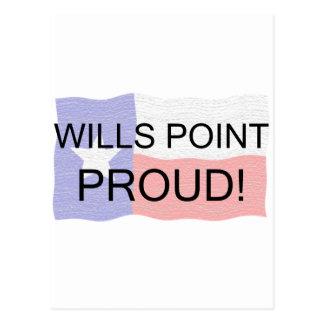 Punto de las voluntades orgulloso tarjeta postal
