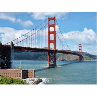Punto de puente Golden Gate y del fuerte en San Fr Fotoescultura Vertical