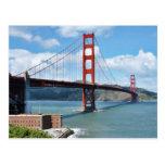Punto de puente Golden Gate y del fuerte en San Fr Tarjetas Postales