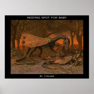 Punto de reclinación para el bebé poster