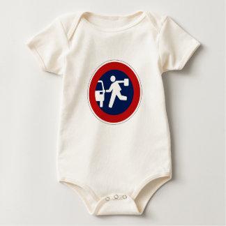 Punto de recogida de la escuela, señal de tráfico, body para bebé